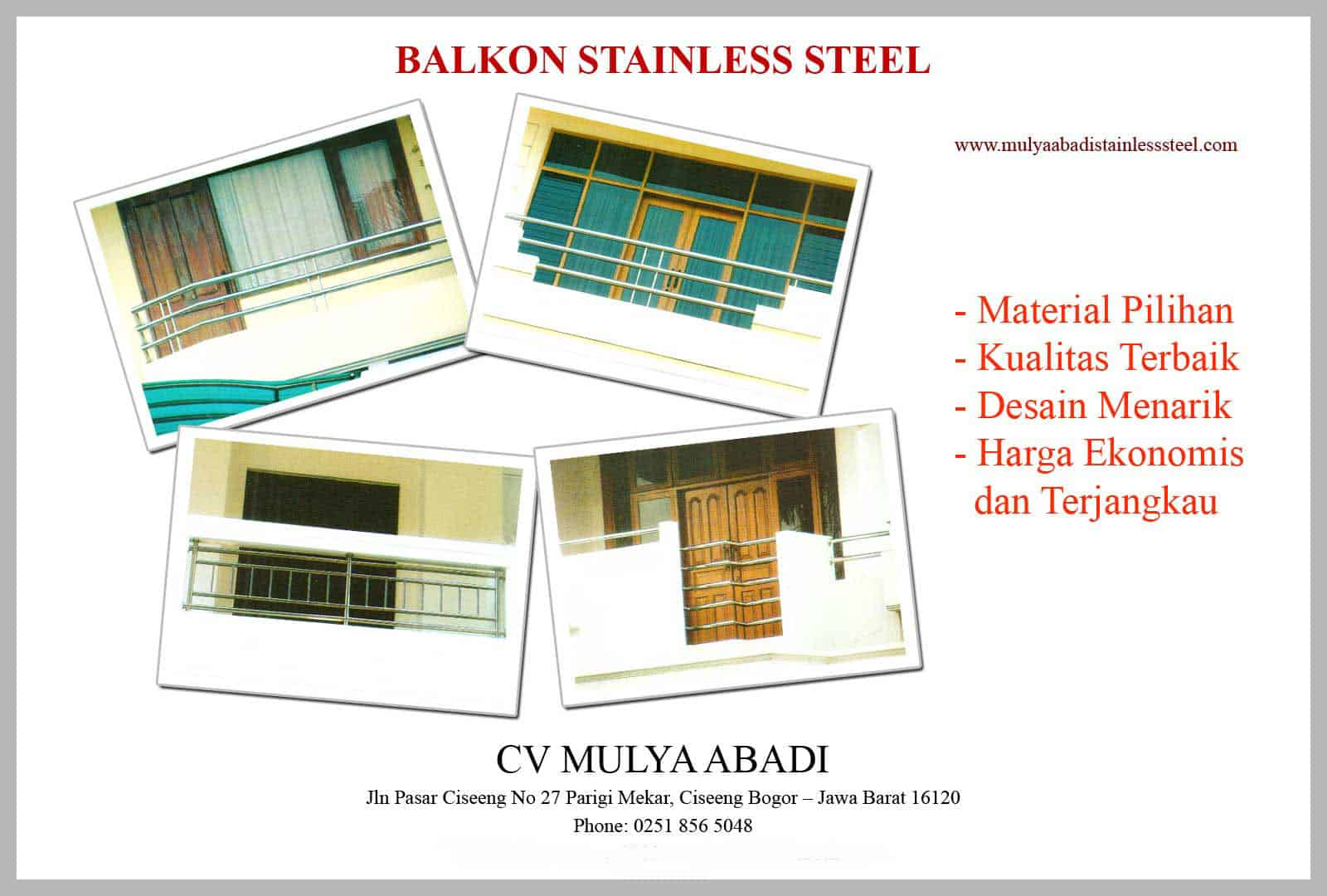 Handrail Stainless Steel Balkon Stainless Steel